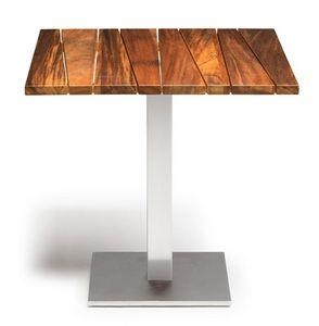 Sorrento/t, Mesa al aire libre, en madera de iroko y acero