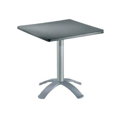 Table 60x60 cod. 20/BG4, Mesa cuadrada de barras, la parte superior de polímero