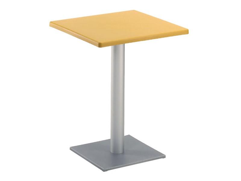 Table 60x60 cod. 20/BQ, Mesa cuadrada moderna con base cuadrada, para el aire libre