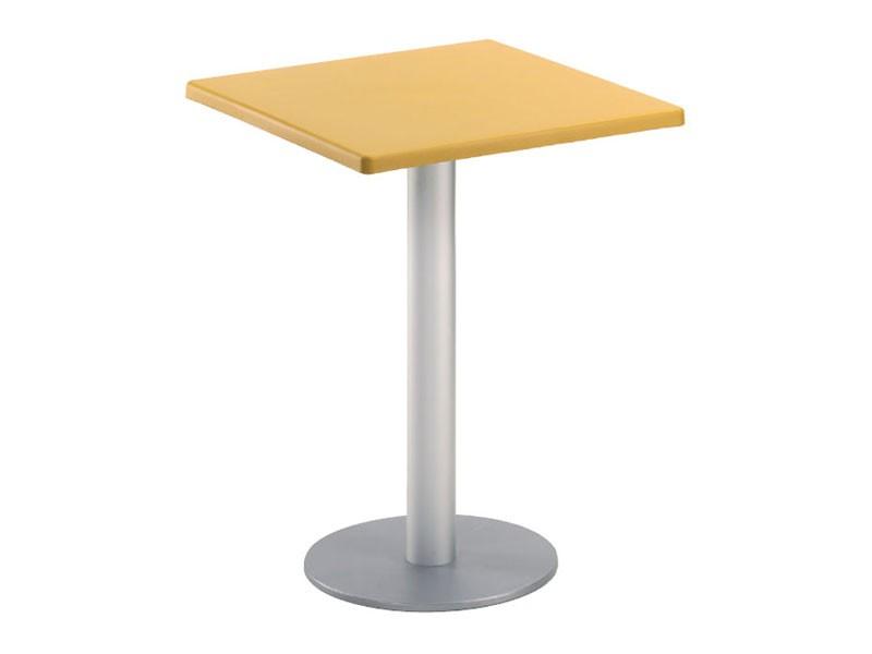 Table 60x60 cod. 20/BR, Cuadrada mesa de café bar, para el jardín