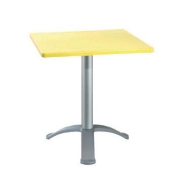 Table 72x72 cod. 06/BG3, Bar mesa cuadrada, base con tres pies de aluminio