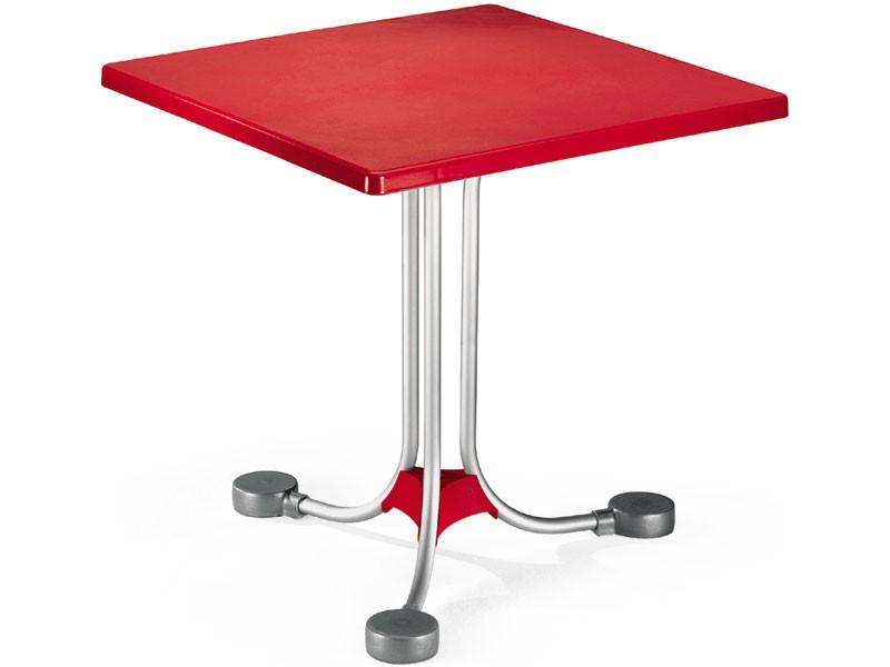 Table 72x72 cod. 06, Mesa de centro cuadrada con base de contrapesos de aluminio