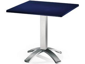 Table 80x80 cod. 23/BG4, Mesa cuadrada con tapa de polipropileno