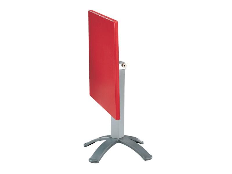 Table 80x80 cod. 23/BG4P, Mesa plegable de polímero y aluminio, para aplicaciones externas