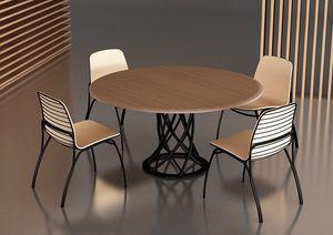 Air Floor, Mesa con base de metal, ideal para bares elegantes