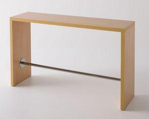 Break, Mesa alta laminado con reposapiés, design
