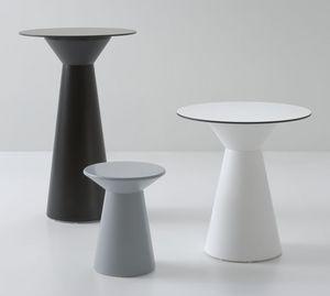 Roller mesa 50, Mesa de café para bares, hecha de polímero