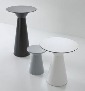 Roller tavolo 110, Mesa alta para bares, en el polímero, por externa