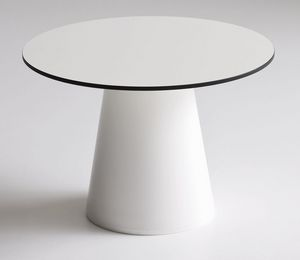 Roller tavolo 40, Mesa de café para bares, en plástico, para el aire libre