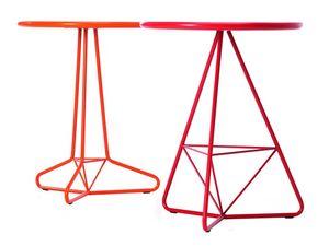 Tria Due d60 d70, Mesa al aire libre en metal de color, tapa redonda