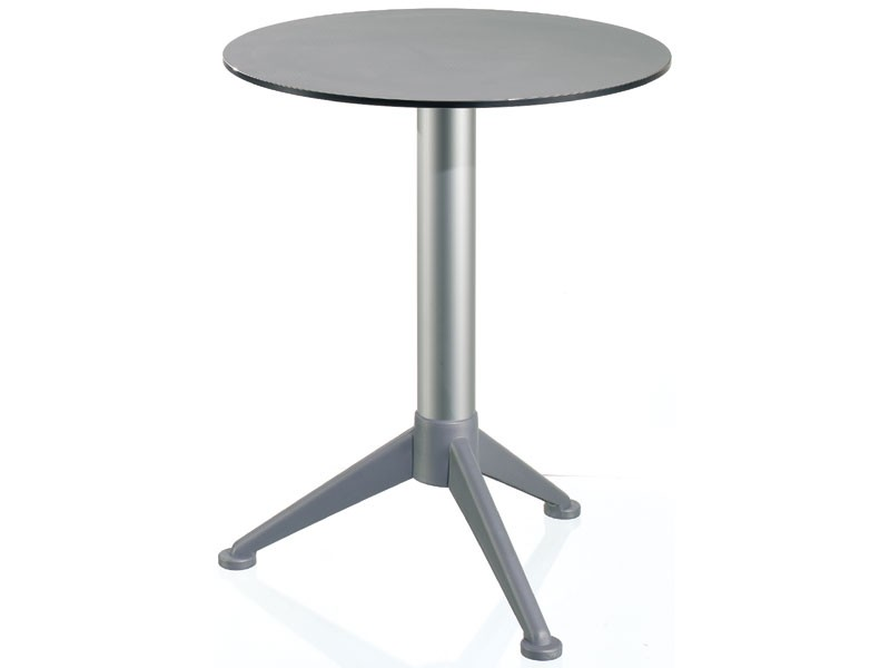 Table Ø 60 cod. 07/BG3A, Mesa redonda pequeña con la tapa en Alusystem