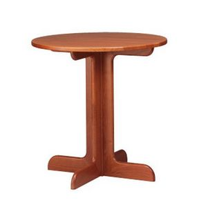 602, Pequeña mesa redonda en madera de haya, base de la cruz