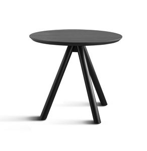 ART. 0098-3 AKY CONTRACT, Base de mesa para barra con tres patas de madera y tapa de ceniza
