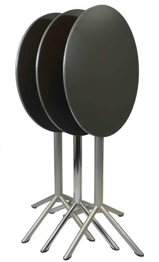 Cocktail - Fold, Capota mesa adecuada para el aire libre, mesa alta con tapa redonda adecuada para bares