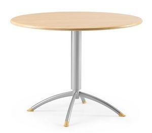 KOMBY 946, Pequeña mesa redonda en metal y laminado, para bares