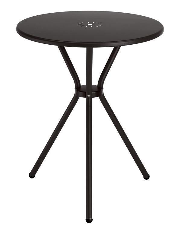 Leo, Mesa de metal de jardín, diámetro de 60 cm