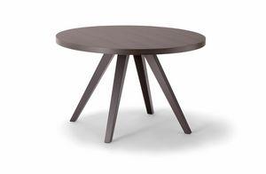 MILANO TABLE 083 H44 T, Mesa auxiliar redonda de madera