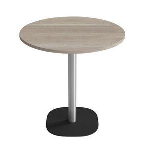 Pallino, Mesa de bar especial y moderna, con base redondeada en metal, tapas personalizables