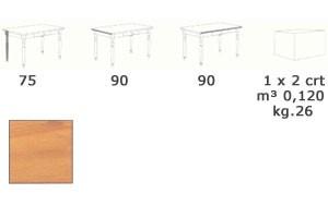 T/420, Mesa redonda hecha totalmente de madera, para los bares
