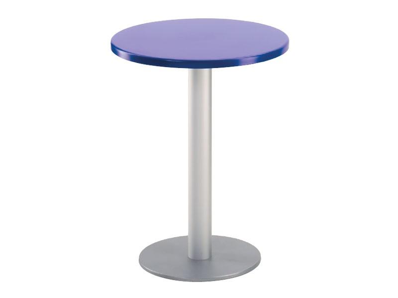 Table Ø 60 cod. 04/BR, Mesa redonda de bar al aire libre