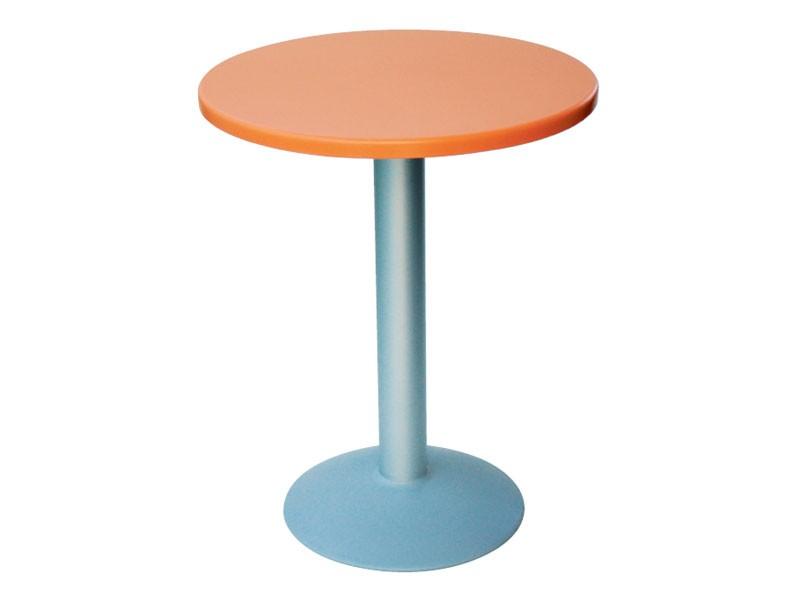 Table Ø 60 cod. 04/BT, Mesa redonda pequeña con base redonda de aluminio