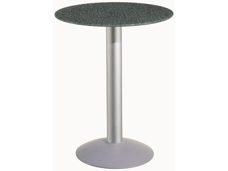 Table Ø 60 cod. 05/BTV, Mesa redonda con base de aluminio, para el jardín y la piscina