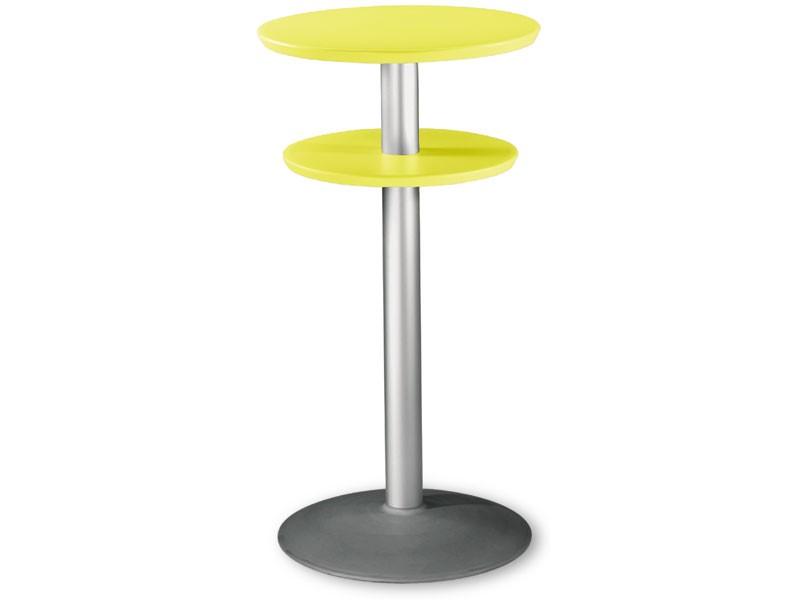 Table Ø 60 h 110 cod. 08/DPBT54, Mesa alta con doble techo en polipropileno