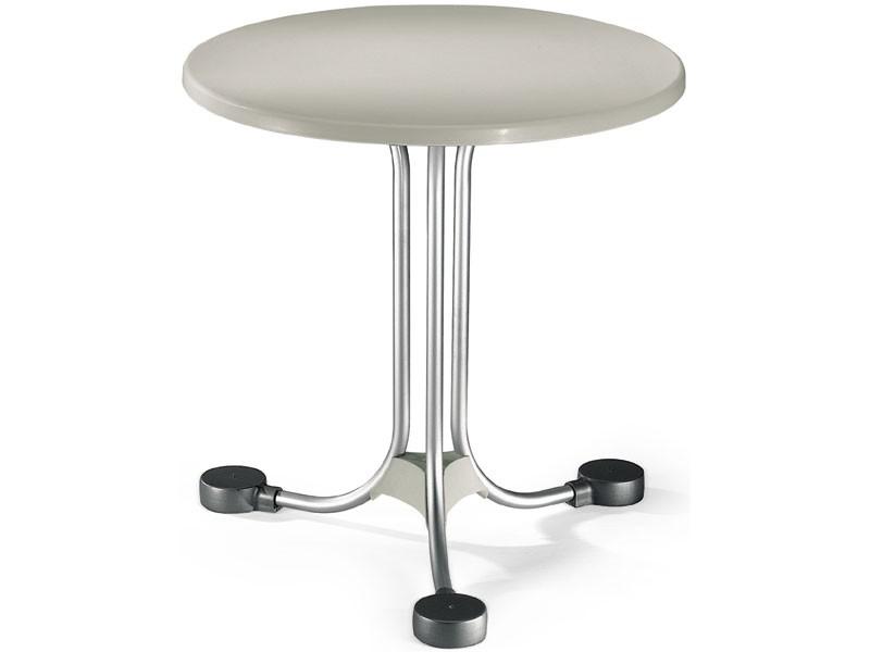 Table Ø 72 cod. 02, Mesa redonda para los saldos exteriores en aluminio