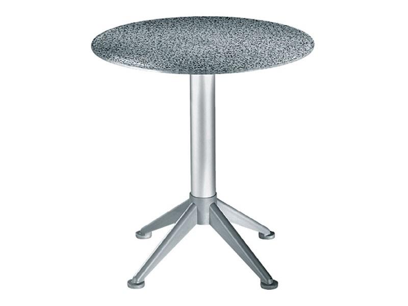 Table Ø 72 cod. 03/BG4AV, Mesa al aire libre, tapa de cristal templado, para el restaurante