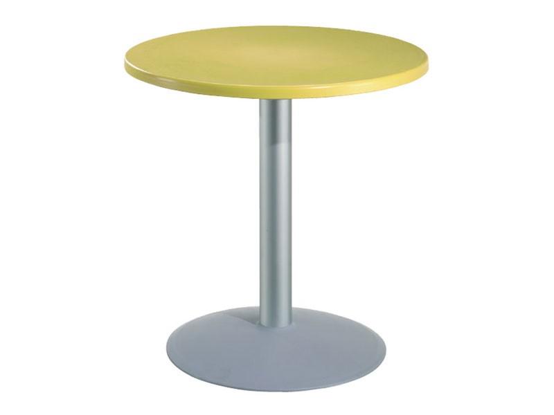 Table Ø 72 cod. 03/BT54, Mesa redonda de barras con la parte superior de polímero