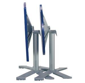 Table 80x80 cod. 23/BG4IP, Mesa redonda plegable, la parte superior de polímero