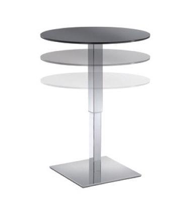 Table Halifax cod. 110, Mesa redonda ajustable para hoteles y bares
