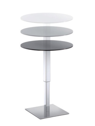 Table Halifax cod. 111, Mesa alta ajustable, ideal para cócteles, para bares