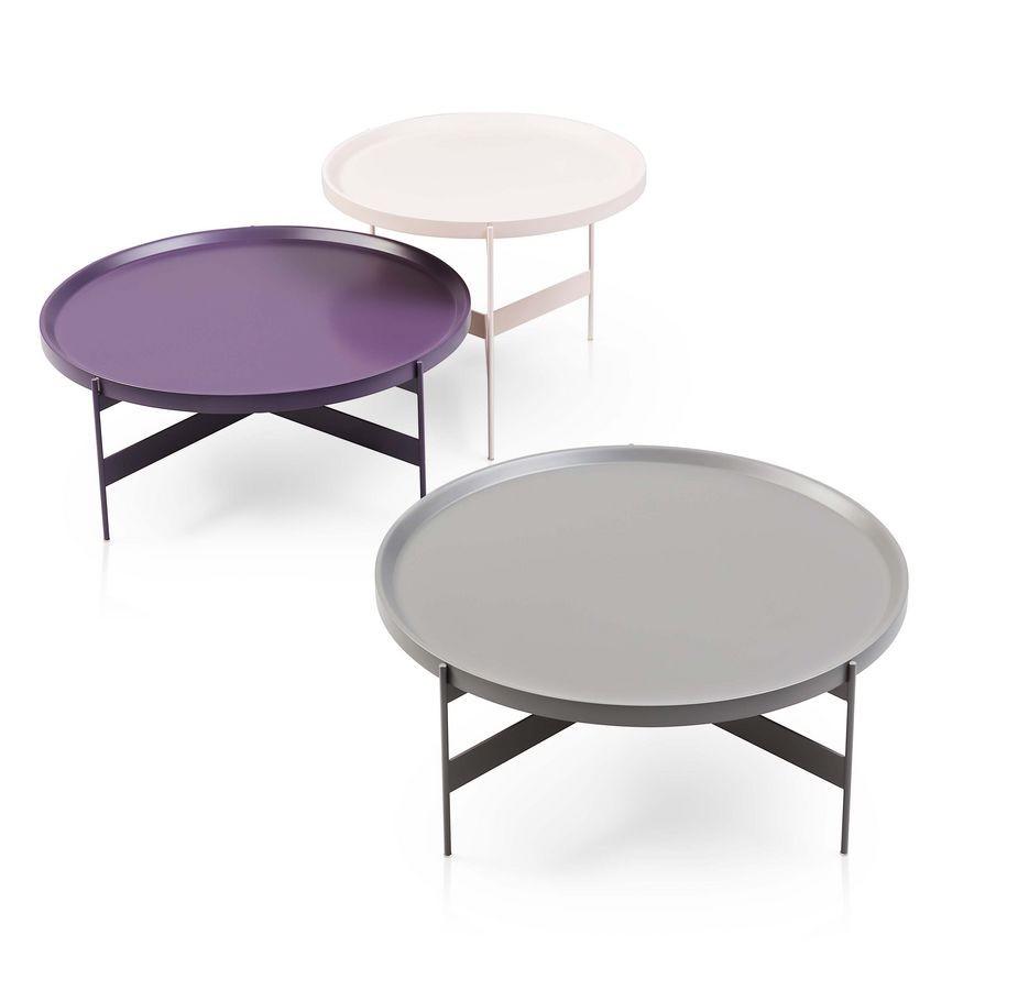 Ronda de pequeñas mesas en metálico, en diferentes acabados | IDFdesign