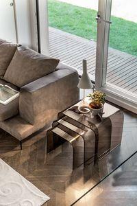 ANEMONE, Mesas de café de cristal, para las salas de estar, con diseño moderno