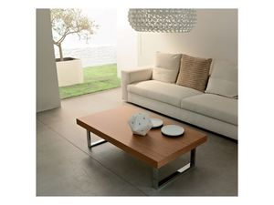 ART. 214/L LITTLE MALE', Mesa de centro para salas de estar, hecha de madera y metal pintado