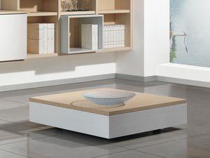 Complementos Pequeña Mesa Madera 01, Bajo la mesa de centro de madera con la unidad de almacenamiento