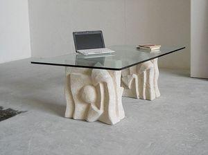 Archivio, Mesa de sofá, base de piedra, para la oficina sala de espera