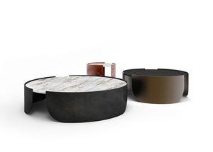 Atenæ mesa de centro, Mesa redonda con diseño minimalista.