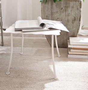 Bahamas mesa, Mesa para sala central, superior en forma de hierro