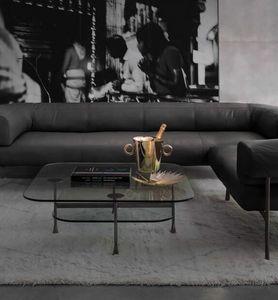 Da Vinci Coffee Tables, Mesa pequeña en cristal y latón