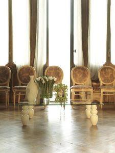 dl900 bali, El diseño lineal pequeña mesa con tapa de cristal