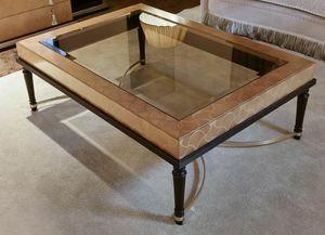 FLORA / mesa de centro rectangular, Mesa de centro con tapa de cristal