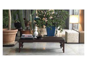 Giunone ST, Mesa de centro de roble lacado, para salas de estar