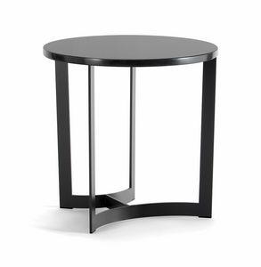 HUGO COFFEE TABLE 088 C H44 - 088 N H44, Mesas de centro redondas con base de metal