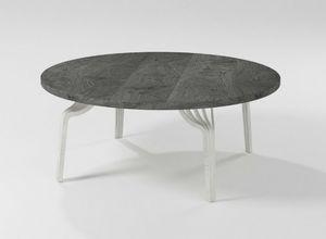 Ming coffee table, Mesita redonda con base de hierro