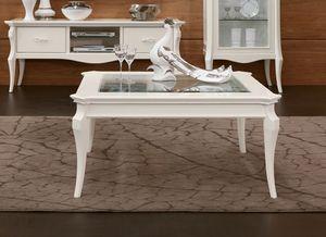 MONTE CARLO / mesa de centro, Mesa de centro con tapa de cristal