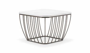 SEATTLE COFFEE TABLE 089, Mesas pequeñas con base ligera y refinada
