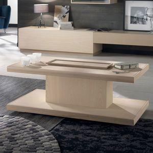 Spazio Contemporaneo SPAZE1047, Mesa de centro de madera, con bandeja extra�ble