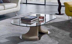 TL66 Mistral mesa pequeña, Mesa de centro con forma cónica, tapa de cristal